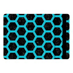 HEXAGON2 BLACK MARBLE & TURQUOISE COLORED PENCIL (R) Apple iPad Pro 10.5   Flip Case