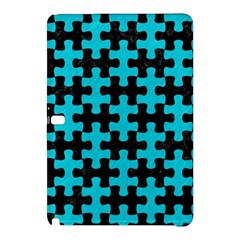 Puzzle1 Black Marble & Turquoise Colored Pencil Samsung Galaxy Tab Pro 12 2 Hardshell Case by trendistuff