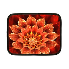 Beautiful Ruby Red Dahlia Fractal Lotus Flower Netbook Case (small)  by jayaprime