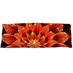 Beautiful Ruby Red Dahlia Fractal Lotus Flower Body Pillow Case (dakimakura) by jayaprime