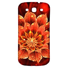 Beautiful Ruby Red Dahlia Fractal Lotus Flower Samsung Galaxy S3 S Iii Classic Hardshell Back Case by jayaprime
