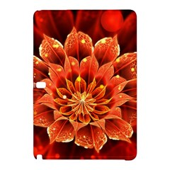 Beautiful Ruby Red Dahlia Fractal Lotus Flower Samsung Galaxy Tab Pro 10 1 Hardshell Case by jayaprime