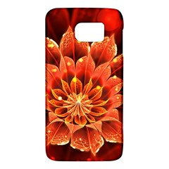 Beautiful Ruby Red Dahlia Fractal Lotus Flower Galaxy S6 by jayaprime