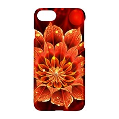 Beautiful Ruby Red Dahlia Fractal Lotus Flower Apple Iphone 7 Hardshell Case by jayaprime