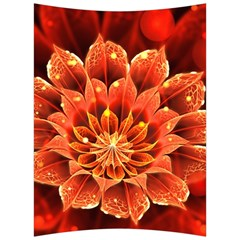 Beautiful Ruby Red Dahlia Fractal Lotus Flower Back Support Cushion by jayaprime