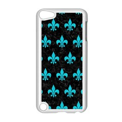 Royal1 Black Marble & Turquoise Colored Pencil Apple Ipod Touch 5 Case (white) by trendistuff