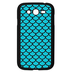 Scales1 Black Marble & Turquoise Colored Pencil Samsung Galaxy Grand Duos I9082 Case (black) by trendistuff