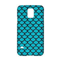 Scales1 Black Marble & Turquoise Colored Pencil Samsung Galaxy S5 Hardshell Case  by trendistuff