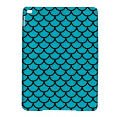 Scales1 Black Marble & Turquoise Colored Pencil Ipad Air 2 Hardshell Cases by trendistuff