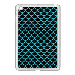 Scales1 Black Marble & Turquoise Colored Pencil (r) Apple Ipad Mini Case (white) by trendistuff