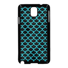 Scales1 Black Marble & Turquoise Colored Pencil (r) Samsung Galaxy Note 3 Neo Hardshell Case (black) by trendistuff