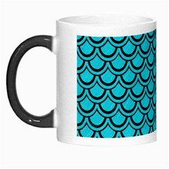 Scales2 Black Marble & Turquoise Colored Pencil Morph Mugs by trendistuff
