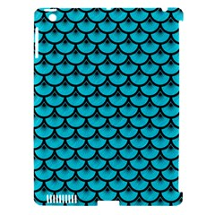 Scales3 Black Marble & Turquoise Colored Pencil Apple Ipad 3/4 Hardshell Case (compatible With Smart Cover) by trendistuff