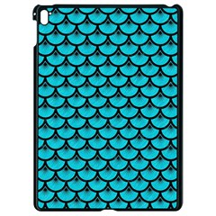 Scales3 Black Marble & Turquoise Colored Pencil Apple Ipad Pro 9 7   Black Seamless Case by trendistuff