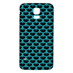 Scales3 Black Marble & Turquoise Colored Pencil (r) Samsung Galaxy S5 Back Case (white) by trendistuff
