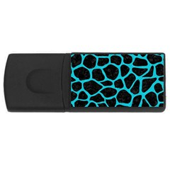Skin1 Black Marble & Turquoise Colored Pencil Rectangular Usb Flash Drive by trendistuff