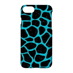 Skin1 Black Marble & Turquoise Colored Pencil Apple Iphone 8 Hardshell Case