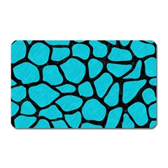Skin1 Black Marble & Turquoise Colored Pencil (r) Magnet (rectangular) by trendistuff
