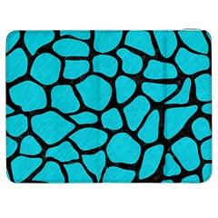 Skin1 Black Marble & Turquoise Colored Pencil (r) Samsung Galaxy Tab 7  P1000 Flip Case by trendistuff