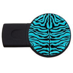 Skin2 Black Marble & Turquoise Colored Pencil Usb Flash Drive Round (2 Gb) by trendistuff