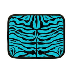 Skin2 Black Marble & Turquoise Colored Pencil Netbook Case (small)  by trendistuff