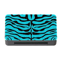 Skin2 Black Marble & Turquoise Colored Pencil Memory Card Reader With Cf by trendistuff