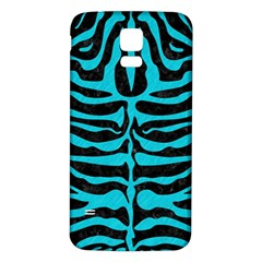 Skin2 Black Marble & Turquoise Colored Pencil (r) Samsung Galaxy S5 Back Case (white) by trendistuff