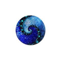 Nocturne Of Scorpio, A Fractal Spiral Painting Golf Ball Marker (10 Pack) by jayaprime
