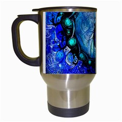 Nocturne Of Scorpio, A Fractal Spiral Painting Travel Mugs (white) by jayaprime