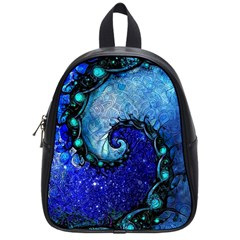 Nocturne Of Scorpio, A Fractal Spiral Painting School Bag (small) by jayaprime