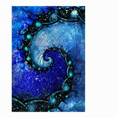Nocturne Of Scorpio, A Fractal Spiral Painting Small Garden Flag (two Sides) by jayaprime