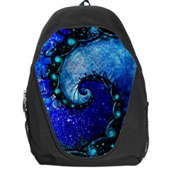Nocturne Of Scorpio, A Fractal Spiral Painting Backpack Bag by jayaprime