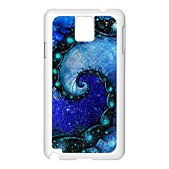 Nocturne Of Scorpio, A Fractal Spiral Painting Samsung Galaxy Note 3 N9005 Case (white) by jayaprime
