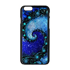 Nocturne Of Scorpio, A Fractal Spiral Painting Apple Iphone 6/6s Black Enamel Case by jayaprime