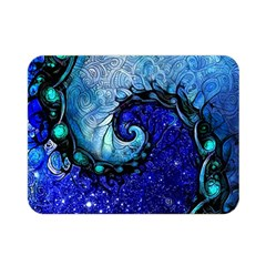 Nocturne Of Scorpio, A Fractal Spiral Painting Double Sided Flano Blanket (mini)  by jayaprime