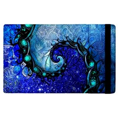 Nocturne Of Scorpio, A Fractal Spiral Painting Apple Ipad Pro 9 7   Flip Case by jayaprime
