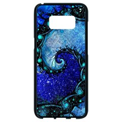 Nocturne Of Scorpio, A Fractal Spiral Painting Samsung Galaxy S8 Black Seamless Case by jayaprime