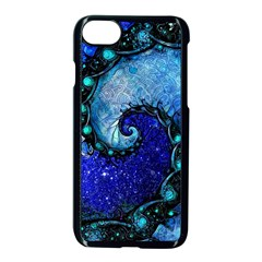 Nocturne Of Scorpio, A Fractal Spiral Painting Apple Iphone 8 Seamless Case (black) by jayaprime