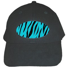 Skin3 Black Marble & Turquoise Colored Pencil Black Cap by trendistuff