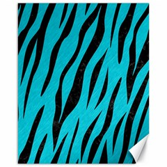 Skin3 Black Marble & Turquoise Colored Pencil Canvas 16  X 20   by trendistuff
