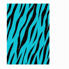 Skin3 Black Marble & Turquoise Colored Pencil Large Garden Flag (two Sides)