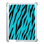 SKIN3 BLACK MARBLE & TURQUOISE COLORED PENCIL Apple iPad 3/4 Case (White) Front
