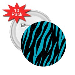 Skin3 Black Marble & Turquoise Colored Pencil (r) 2 25  Buttons (10 Pack)  by trendistuff