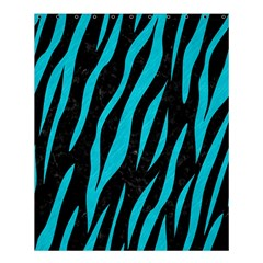 Skin3 Black Marble & Turquoise Colored Pencil (r) Shower Curtain 60  X 72  (medium)  by trendistuff