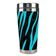 Skin3 Black Marble & Turquoise Colored Pencil (r) Stainless Steel Travel Tumblers by trendistuff