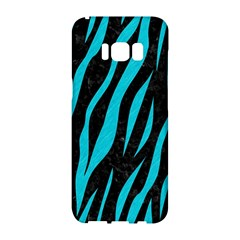 Skin3 Black Marble & Turquoise Colored Pencil (r) Samsung Galaxy S8 Hardshell Case  by trendistuff