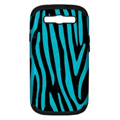 Skin4 Black Marble & Turquoise Colored Pencil Samsung Galaxy S Iii Hardshell Case (pc+silicone) by trendistuff