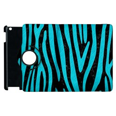 Skin4 Black Marble & Turquoise Colored Pencil Apple Ipad 2 Flip 360 Case by trendistuff