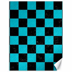Square1 Black Marble & Turquoise Colored Pencil Canvas 18  X 24
