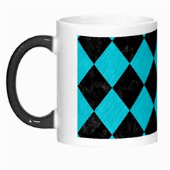 Square2 Black Marble & Turquoise Colored Pencil Morph Mugs by trendistuff